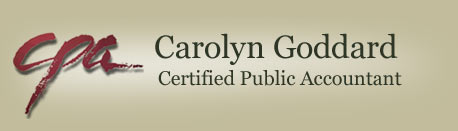 Carolyn Goddard, Certified Public Accountant